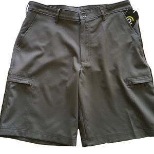 Champion Water Resistant Cargo Shorts 32W Gray NEW